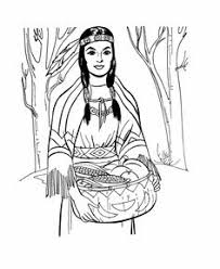 Coloring Pages Indian Women