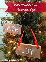 Rustic Wood Christmas Ornament Signs The Easiest DIY Craft For Decoration