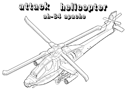 Apache Attack Helicopters Coloring Pages For Kids Xv Printable
