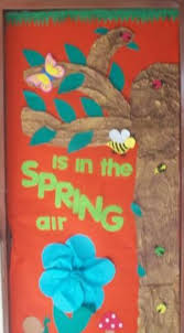 spring is in the air classroom door decoration idea