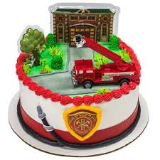 Amazon.com: Fire Truck And Station Cake Decorating Kit Topper ... Fire Engine Cupcake Toppers Fire Truck Cupcake Set Of 12 In 2018 Products Pinterest Emma Rameys Firetruck 3rd Birthday Party Lamberts Lately Fireman Firehouse Etsy Monster Cake Ideas Edible With Free Printables How To Nest For Less Refighter Boy Truck Topper Image Rebecca Cakes Bakes Pin By Diana Olivas On Diana Cupcakes Fondant Red Yellow Rad Hostess The Mommyapolis