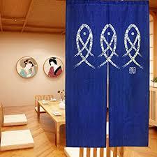 ligicky japanische noren lang vorhang türvorhang schlafzimmer tapisseri für die heimtextilien raumteiler blau 85 x 150 cm fische malerei