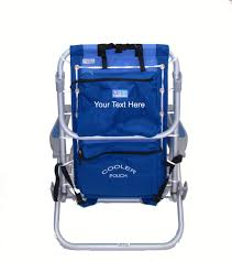 Rio Gear Backpack Chair Blue by Imprinted Rio Deluxe Aluminum Lay Flat Backpack Chair W Cooler