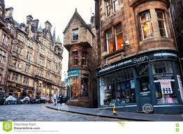 100 Edinburgh Architecture Cockburn Street In Scotland Editorial Stock Photo Image