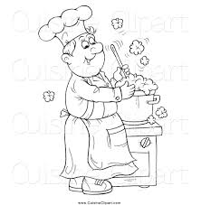 black and white stock cuisine clipart