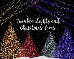 Christmas Trees And Lights Clipart Glowing