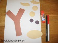 Y is for Yak A Letter of the Week Preschool Craft