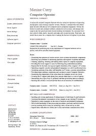 Production Operator Resume Sample For Computer Best Petroleum Example