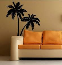Wall PALM TREES Decal LARGE For Any Room STICKER TROPICAL DECORATION