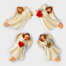 Fridge Magnets Resin 3D Angel Message Stickers Wall Decorative