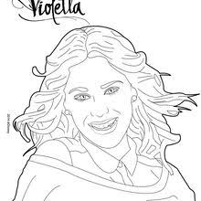 Violetta Photo Shoot Coloring Page