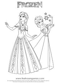 Frozen Coloring Pages Two Princesses Of Arendelle