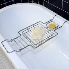 Diy Bathtub Caddy With Reading Rack by Articles With Taymor Ultimate Bathtub Caddy Chrome Tag Chic