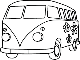 Someone In A Vam Coloring Sheet Flower Power Pages Pin Vans Page S Flow On