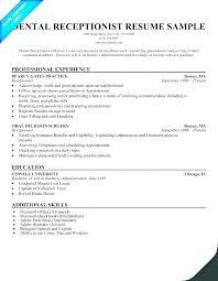 Example Receptionist Resumes Sample Resume Ideas Pro Samples Entry Level Resum