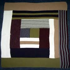 Garter Stitch Log Cabin Blanket for Baby Colton