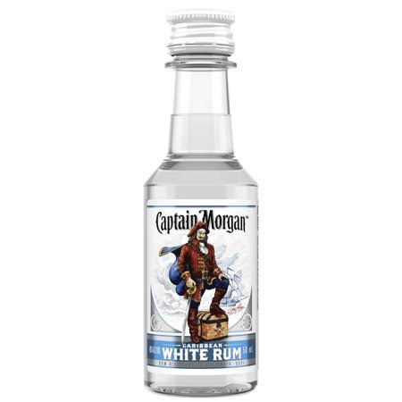 Captain Morgan White Rum, 50 mL (80 Proof)