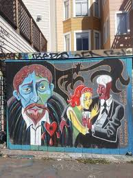 Clarion Alley Mural Project San Francisco by Fiery Anti Trump Mural Appears In Clarion Alley Sfgate