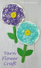 Flower Crafts For Preschoolers Craft Preschool Ideas Cr On Simple Spring Kids