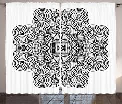 gardine schlafzimmer kräuselband vorhang mit schlaufen und haken abakuhaus schwarz weiss keltische kunst kaufen otto