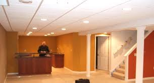 recessed lighting drop ceiling with in basement basements ideas