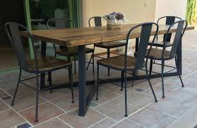 21st Century Wrought Iron Set Of Patio Dining Table And ...