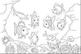Remarkable Fish Coloring Pages Kids With Ocean Page And Printable Free