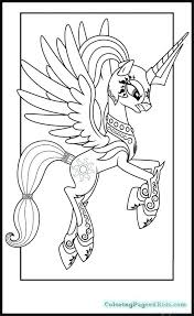 My Little Pony Princess Celestia Coloring Pages And