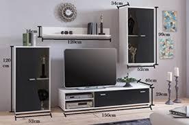 wohnwand pur schwarz weiß wohnzimmerschrank tv wand