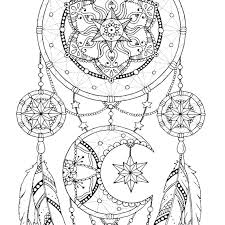 Dreamcatcher Coloring Page For Adults Mandala Adult Book Printable Art