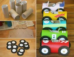 How To Make Toilet Paper Roll Race Cars