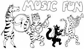 Coloring Sheet Of Animal Music Fun For Kids 300x177
