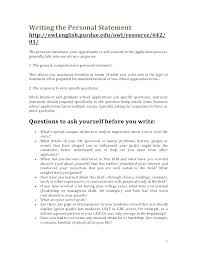 Personal Statement Examples For Resume Short Cover