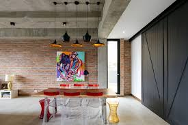 100 Brick Ceiling 10 Contemporary Rooms With Concrete