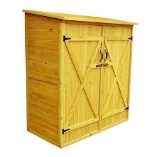 Leisure Season Medium Wooden Outdoor Pool Yard Storage Shed