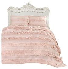 Lush Decor Belle 4 Piece Comforter Set by Eloise Blush Pink 3 Piece Quilt Set Queen Traditional Quilts