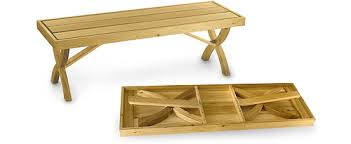 Collapsible Wooden Picnic Table Plans by Folding Bench Plan By Lee Valley Lee Valley Tools