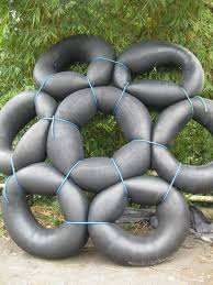 100 Truck Tubes We Used To Get The Monster Truck Tubes And Link Them Up And Float