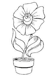 New Flower Pot Coloring Page 49 For Your Free Colouring Pages With