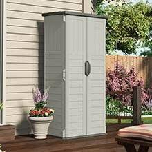 Suncast Garden Shed Taupe by Amazon Com Suncast Wood Resin Vertical Shed Storage Sheds