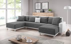 inter sofa road weiß grau u form schlafsofa ecksofa