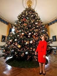 Imposing Decoration 18 Ft Christmas Tree Laura Bush Unveils White House PEOPLEcom Modest Ideas