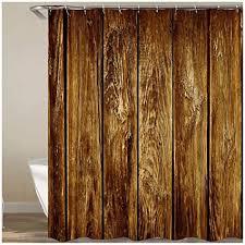 bishilin bad vorhang für badezimmer braun holz tür anti