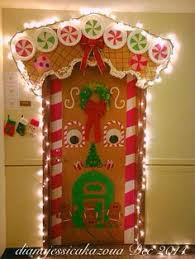 Winning Christmas Door Decorating Contest Ideas by Gingerbread House Classroom Door Decorating 2nd Place Winner