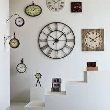 Horloge Mural 3d Achat Vente Pas Cher Myron Horloge Murale En Métal D60cm Horloges Murales Alinéa Et La