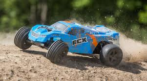 1/10 Circuit 2WD Stadium Truck Brushed, LiPo, RTR, Blue/Orange, INT ...