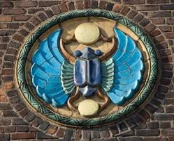 Pewabic Pottery Corvette Tile by Pewabic Scarab Designer William Buck Stratton Modeled By