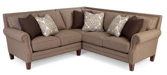 craftmaster 747 two piece sectional sofa with rolled arms and