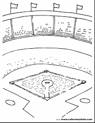 Amazing Baseball Stadium Coloring Pages With And Free Printable