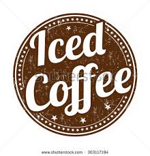 Iced Coffee Grunge Rubber Stamp On White Background Vector Illustration